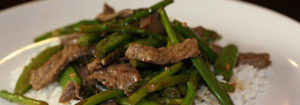 Beef Snap Pea and Asparagus Stir Fry