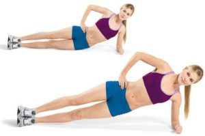 Side plank with Hip Lifts