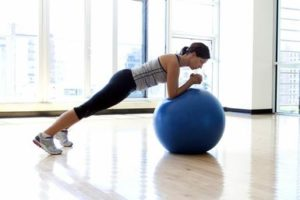 Swiss Ball Planks
