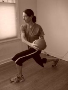 Twisting lunges