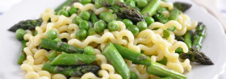 Sugar Snap Peas Pasta Asparagus Parmesan